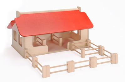 bauernhof gross stallgeb ude mit 8 zaunelementen und einem gatter. Black Bedroom Furniture Sets. Home Design Ideas