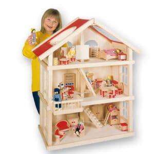 Puppenhaus 3 Etagen aus Holz