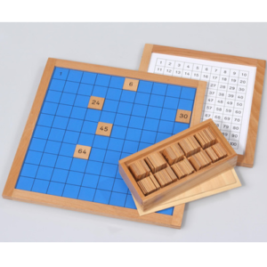 Montessori-Hunderterbrett-mit-Kontrollkarte