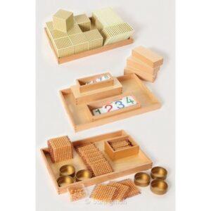 goldenes-Perlematerial-Komplettsatz