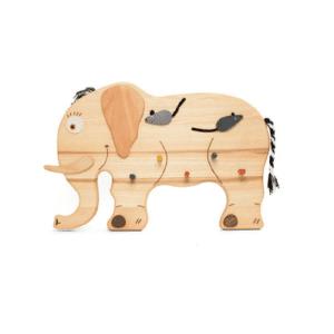 kindergarderobe mit elefant