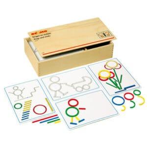 Montessori ringe und Staebe