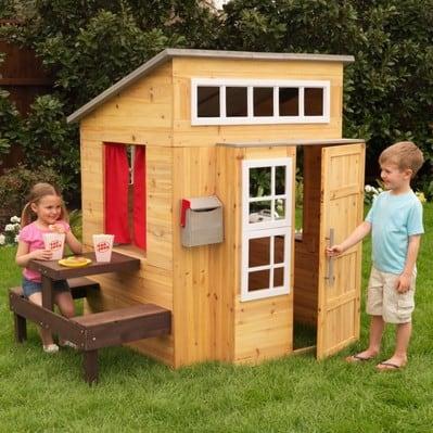 Modernes Spielhaus Kinder Gartenspielhaus Mit Vielen Feature Online
