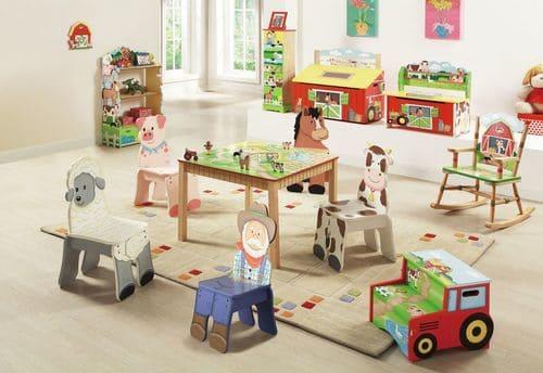 kindertisch bauernhof tiere. Black Bedroom Furniture Sets. Home Design Ideas