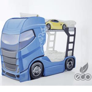 Etagenbett Truck blau