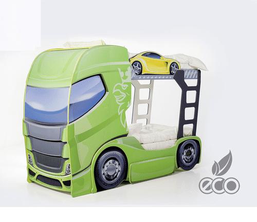 Etagenbett Truck gruen