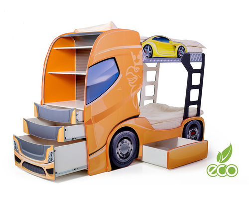 Etagenbett Auto : Etagenbett truck komplett online kaufen in der kinderspielewelt