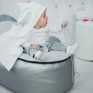 Handtuch mit Hasenkapuze