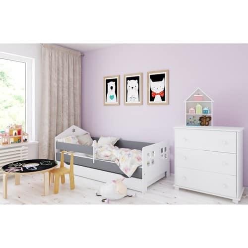 Haus Bett grau