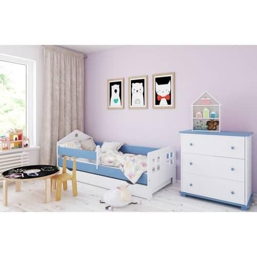 Haus Bett hellblau
