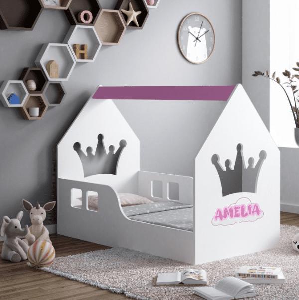 Hausbett Krone Pink