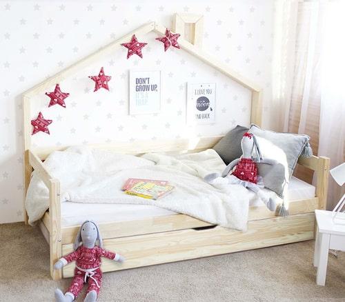 Hausbett mit Schublade