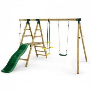 Holzschaukel Set mit Rutsche