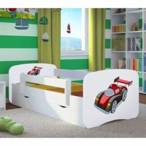 Kinderbett Autorennen