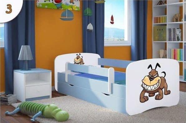Kinderbett Bulldogge hellblau