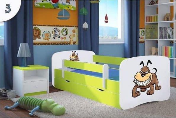 Kinderbett Bulldogge lindgruen