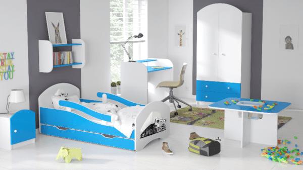 Kinderbett Camion blau