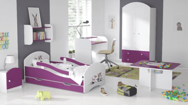 Kinderbett Deluxe Buesi purple