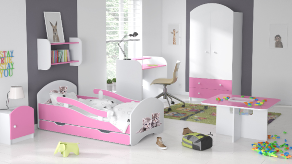 Kinderbett Deluxe Buesi rosa
