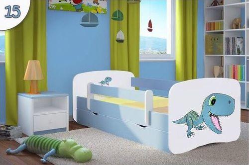 Kinderbett Dinosaurier hellblau