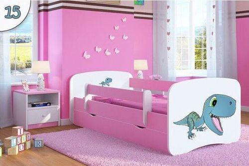 Kinderbett Dinosaurier rosa