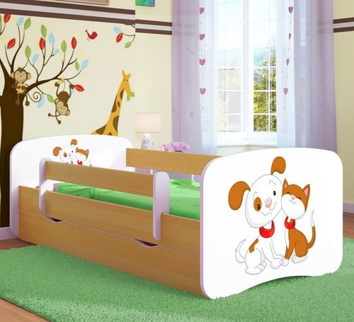Kinderbett Dog and Cat Buche