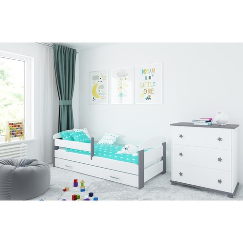Kinderbett Kasia grau