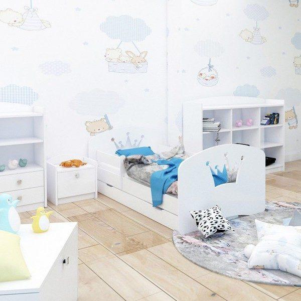Kinderbett Krone Weiss