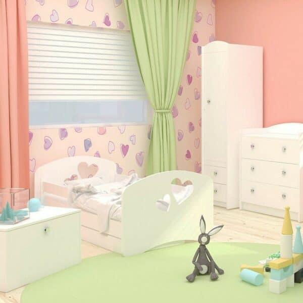 Kinderbett Love Weiss