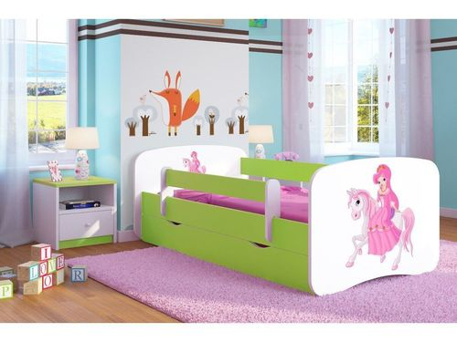 Kinderbett Reitende Princess lindgruen