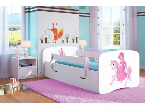 Kinderbett Reitende Princess weiss