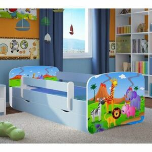 Kinderbett Safari + Latex Matratze