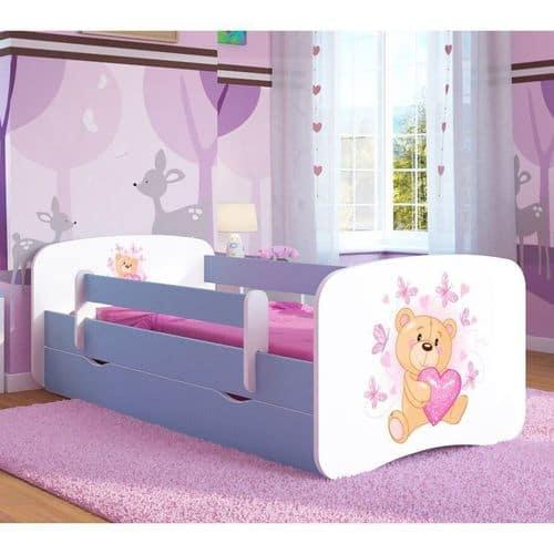 Kinderbett Teddy Hellblau