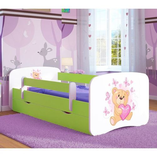 Kinderbett Teddy Lindgrün