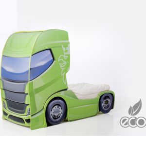 Kinderbett Truck gruen