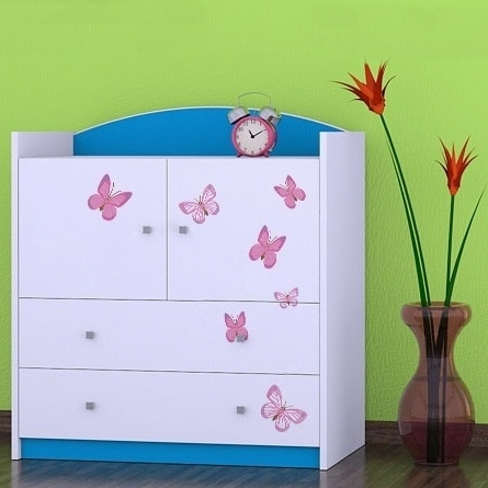 Kinderkommode Butterfly Blau