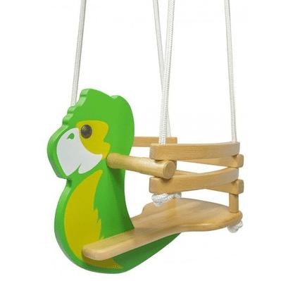 Favorit Kinderschaukel Papagei aus Holz online in der kinderspielewelt.ch YK38