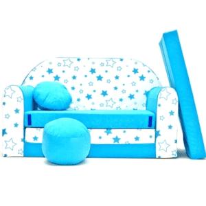 Kindersofa Sterne Blue