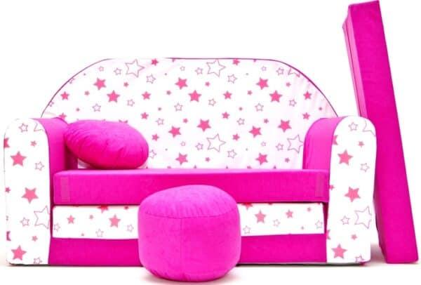 Kindersofa Sterne Pink
