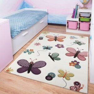 Kinderteppich Schmetterlinge