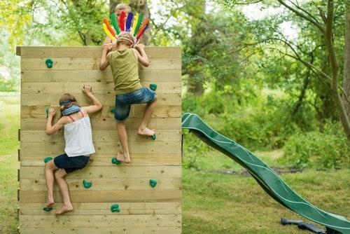 Klettergerüst Monkey Bar Deluxe : Kletterwürfel aus holz mit rutsche kletterwand klettergerüst online