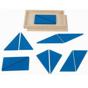 Konstruktive Dreiecke blau