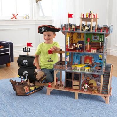 Piratenschiff mit Piratenbucht
