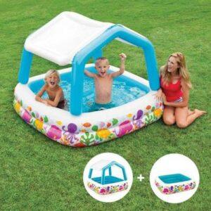 Pool mit sonnenschutz