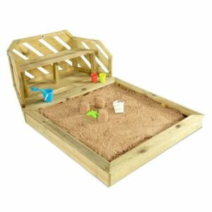 Sandkasten mit Sitzbank
