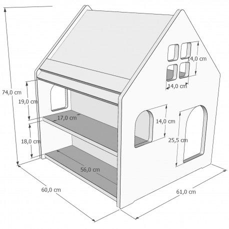 Schreibtisch Hausform