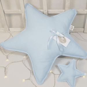Star Kissen Blau