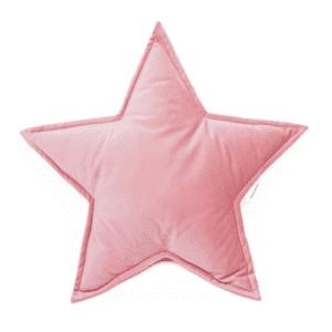Sternkissen Velours Rosa