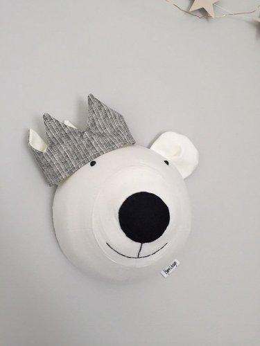 Tierkopf Eisbaer grau