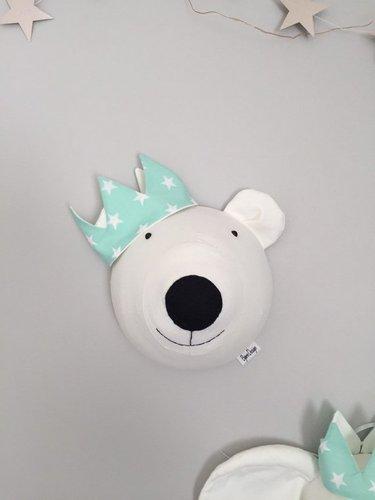 Tierkopf Eisbaer mint